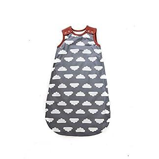 Mama Designs Babasac Multi Tog – Saco de dormir para bebé, en nube gris con borde de Russet. Multi tog 1.0 y 2.5 tog incluido (tamaños 0 – 6 meses, 6 – 18 meses y 18 – 36 meses)