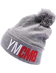 YMCMB - Bonnet YMCMB Gris avec pompon Homme / Femme