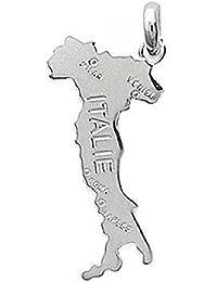 So Chic Joyas - Colgante Mapa Italie Italia Plata 925