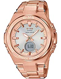 Casio Womens Analogue-Digital Quartz Watch with Stainless Steel Strap MSG-S200DG-4AER