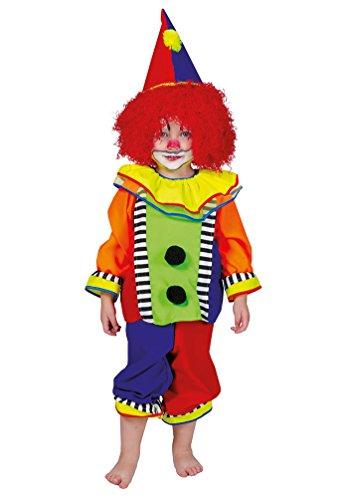 Karneval Klamotten Clown-Kostüm Klein-Kinder Baby Mädchen Jungen bunt Oberteil, Hose inkl. Clown-Hut Größe - Kleinkind-mädchen Kostüme Für Clown