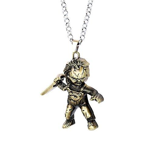Curse of Chucky Halskette Jahrgang Metall Doll Pendant Halskette-Anti Bronze (nl005848-2) (Chucky Für Halloween)