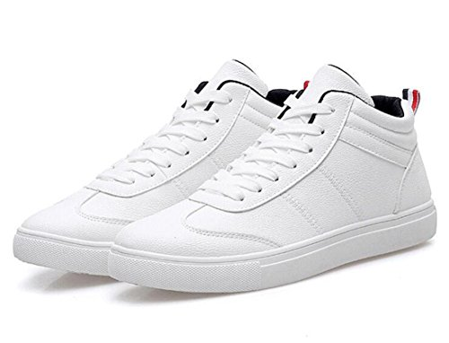 Men's Lace Up Waterproof Ankle Casual Shoes white