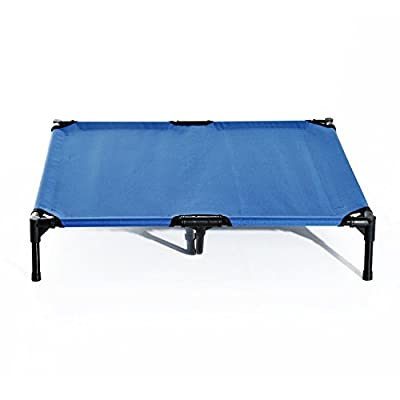 Pawhut Elevated Pet Bed Portable Camping Raised Dog Bed w/Metal Frame Blue