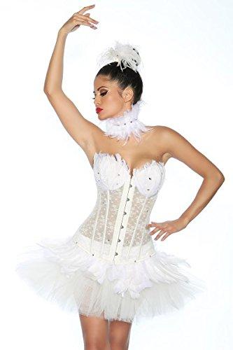 wan Corsage, Größe:L (White Swan Kostüme Halloween)