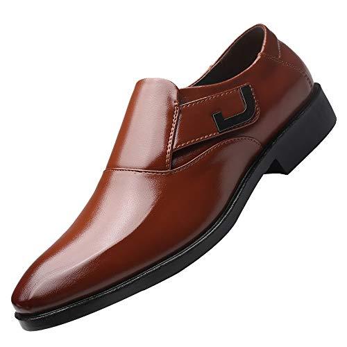 Braune Leder Clogs (Sannysis Leder Schuhe Herren Anzugschuhe Business Schuhe Lederschuhe aus Leder für Beruf und Anzug Rindleder Schwarz Braun Größe 38-47)