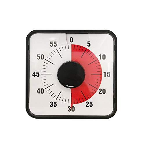 Minuten-Timer Quarz hängt an der Wand des Klassenzimmers oder an Einer Konferenz mit leisem Design für Erwachsene Kinder ()