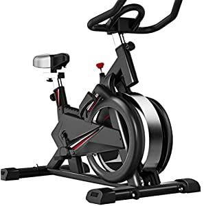 41tmlaKU4OL. SS300  - Bicycle Trainers Manual Adjustable Resistance 15 Kg Flywheel With Mobile App Simulates Live Rides Cardio Workout With Console Multifunctional Display Adjustable Handlebars & Seat Height