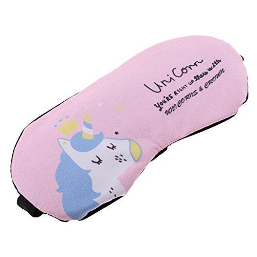 Sharplace Máscara de Ojos Antifaces para Dormir Cansancio Eyeshade Calor Fresco Regalo para Adultos Niños - Unicornio Rosado
