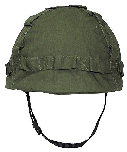 US Helm Kunststoff, mit Stoffbezug Oliv (Kunststoff Armee Helm)