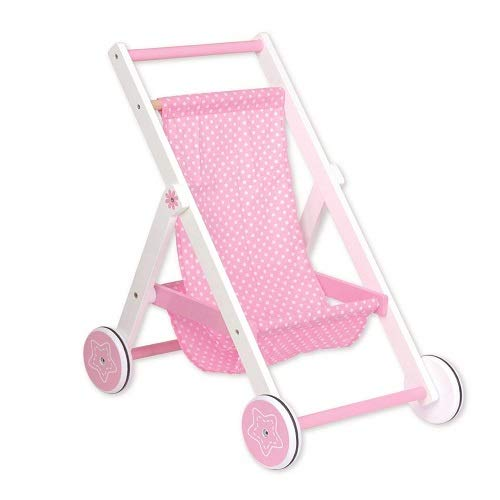 LELIN 780 Wooden Childrens Baby Doll Pretend Play-Stroller, Multicoloured