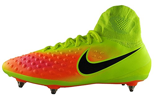 Nike Magista Orden Ii Sg, Scarpe da Calcio Uomo Amarillo (Volt / Black-Total Orange-Hyper Turq)