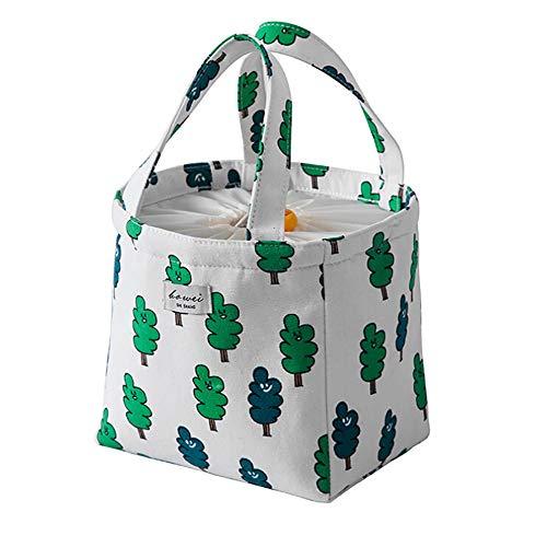Isotherme Lunch Bag, Wachstuch Wiederverwendbar Boxen Taschen Lunch Bags mit Griff für Frauen, Kinder, Jugendliche für Lebensmitteltransport (Kinder Aluminium-lunch-boxen Für)