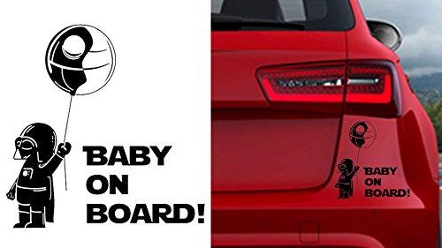 Baby on Board Darth Vader Baby Auto Car Sticker Aufkleber Darthvader