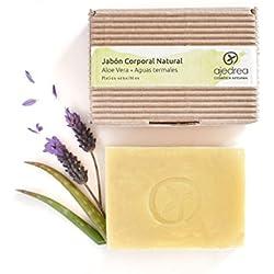 Jabón de aloe vera ecológico, coco y aceite de oliva (120 gr)