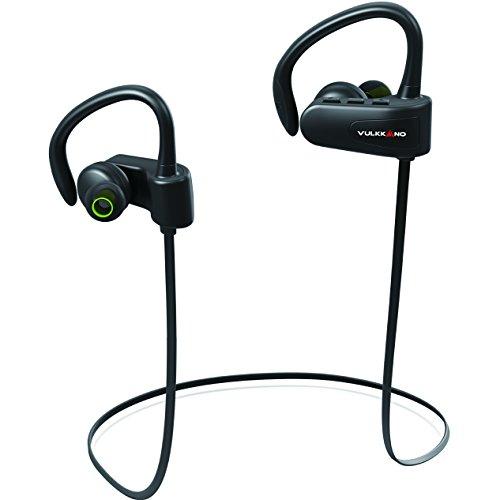 VULKKANO Active (marca española) - Auriculares inalámbricos deportivos. Para hacer deporte, running y gimnasio. Resistentes al sudor y agua (IPX4, Batería 6 horas, Bluetooth, micrófono).
