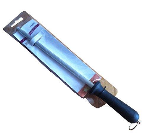 Prima Edelstahl 20,3cm Messerschärfer Wetzstahl Küche, Butchers Tools Gadgets mit Schwarz Kunststoff Ergonomischer Griff - Knife Professional Butcher