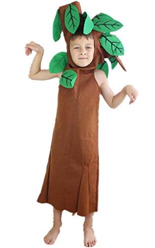 (Petitebelle Halloween Weihnachten Obst Gemüse Unisex-Kostüm-Partei-Kleid-Kleidung Einheitsgröße 4-6years Baum)