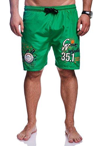 MT Styles Badeshorts NAVIGATION Shorts Badehose BA-6002 Grün