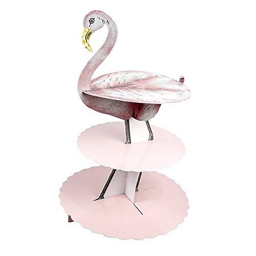 Alice im Wunderland Flamingo Etagere Tortenständer Teaparty Teatime Patisserie Party Geschirr Pappe