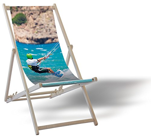 Kiteboard - Liegestuhl Balkon Garten Sonnenliege Relax Holz Terrasse