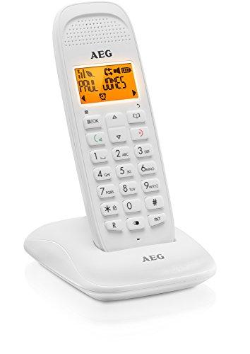 """AEG Voxtel D81 - Schnurloses 1.6\"""" DECT-Telefon mit Freisprecheinrichtung im Mobilteil - Weiß"""