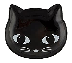 Black Cat Face Trinket Jewellery Display Dish