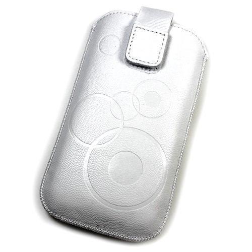 Schutzhülle, Weise Leder weiß L für Alcatel ot-983