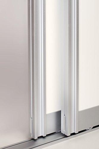 Schiebetürbausatz Aluminium komplett für 2 Türen, TWIN FLOOR - Ideal für Durchgangstüren und Raumteiler - Breite pro Türflügel bis 1300mm