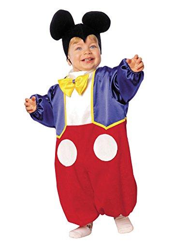 Kostüm Maus für Baby Jungen (Größe 3 - Von 2 bis 3 (Für Mickey Maus Jungen Kostüm)