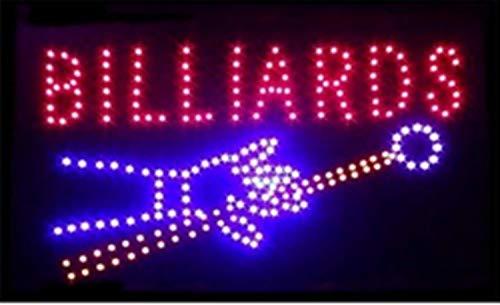 BILLIARDS Elektronisches LED-Schild - das originale intelligente leuchtende LED-Schild für professionelle, leistungsstarke, animierte, blinkende Anzeigeschilder BI01