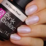 Pink Gellac 164 Classic Pearl UV Nagellack. Professionelle Gel Nagellack shellac für mindestens 14 Tage perfekt glänzende Nägel