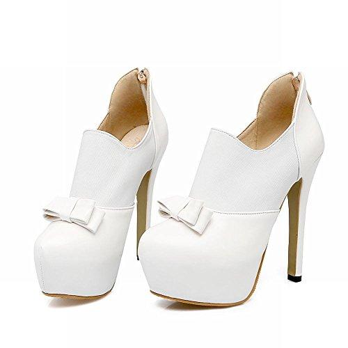 Misssasa Femme Chaussures Élégant Blanc