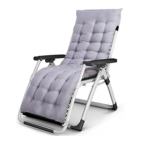 LRSFM Moderne Klappstuhl Freizeit Stuhl Büro Mittagspause Stuhl Strandkorb Liege Tragbare Klappbett Abnehmbare Baumwolle Gepolsterte Sonnenliege (Farbe : Gray, größe : 1#)