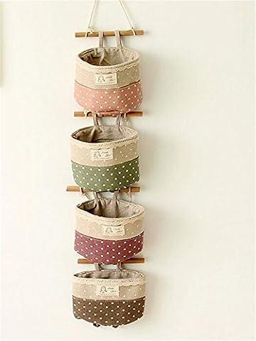 Hängeorganizer,Wand hängenden/CIDBEST® kreativ 4 Tasche Hanging Storage Bag/Hängende Kombination/Wand Hängen