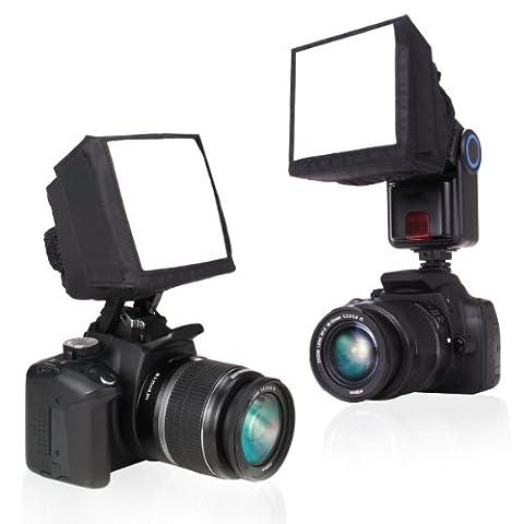 ENHANCE Soft Box DSLR Blitz Diffusor für Digitale Kameras Spiegelreflexkameras wie Canon EOS 750D 700D 80D 70D 100D Nikon D5300 D3300 D7200 Sony