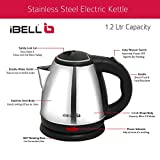 iBELL SEK12L Stainless Steel Electric Kettle 1.2 Ltrs, 1500W (Silver)