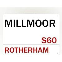 Inga Rotherham United FC - Placa metálica para el Estadio (20 x 30 cm)
