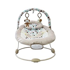 Baby bouncer plays music - with music fuction and toys, elephant and monkey