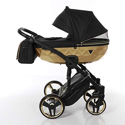 Imagen para Carro bebé Junama Mirror Satin. (negro + oro)