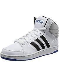 Scarpe sportive Primavera grigie per unisex Adidas Hoops