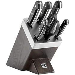ZWILLING 36133-000-0 Gourmet Selbstschärfender Messerblock, Holz, 7-teilig