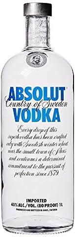 Absolut Vodka Original / Edler und extrem reiner Premium-Vodka aus Schweden in der ikonischen Apotheker-Flasche / 1 x 1 (Werbung Absolut Vodka)