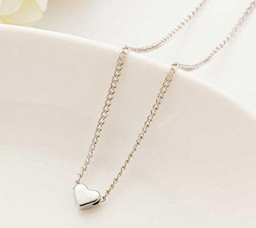 ges kleines Herz vergoldete kurze Anhänger Halskette Frauen Kette geliebte Lady Mädchen Geschenke Modeschmuck ()