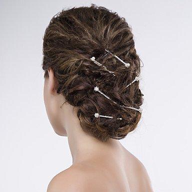Zormey Femme/organza/Net Épingle à cheveux en alliage avec perle d'imitation/strass Mariage/fête Coiffe