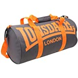 Lonsdale Barrel Bag charcoal/orange