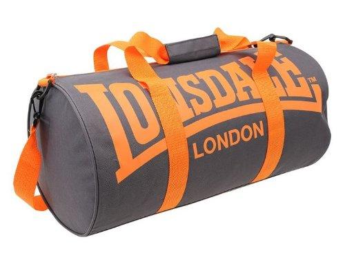 Lonsdale Sporttasche Sport Tasche Fitness Tasche Reisetasche Trainingstasche Bag (Charcoal/Orange) (Golf Sport Tasche)