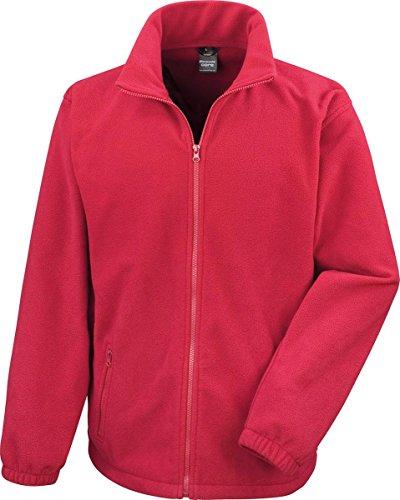Résultat adultes Veste d'hiver Manteau chaud Core Fashion pour extérieur Veste en polaire pour homme Rouge - Flame Red