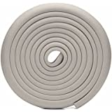 SYGA Baby Safety Strip Furniture Edge Guard Cushion Corner Cover 2 Meter 6.5 Feet Tape Infant Bump Protector, Grey