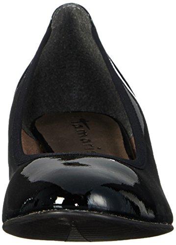 Tamaris 22304, Chaussures à talons - Avant du pieds couvert femme Noir - Schwarz (BLACK PATENT 018)